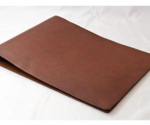 a3 brown leather binder resume and portfolio pinterest