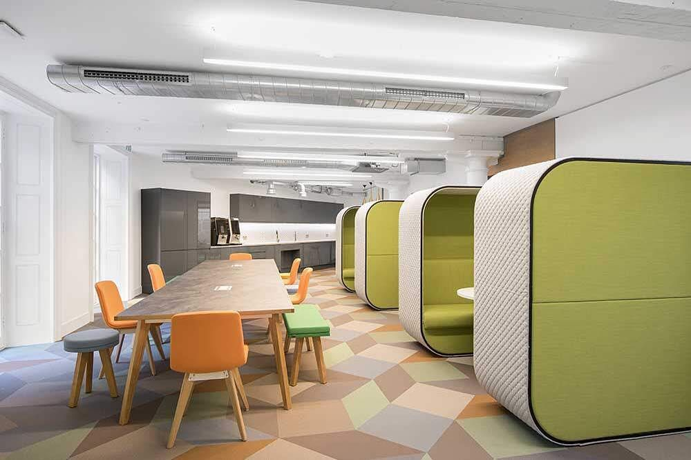 The Right Design Can Enhance The Comfort Mood Morale And Productivity Of Your Office Space Fitnice Woven Vin Vinyl Flooring Innovative Office Office Space