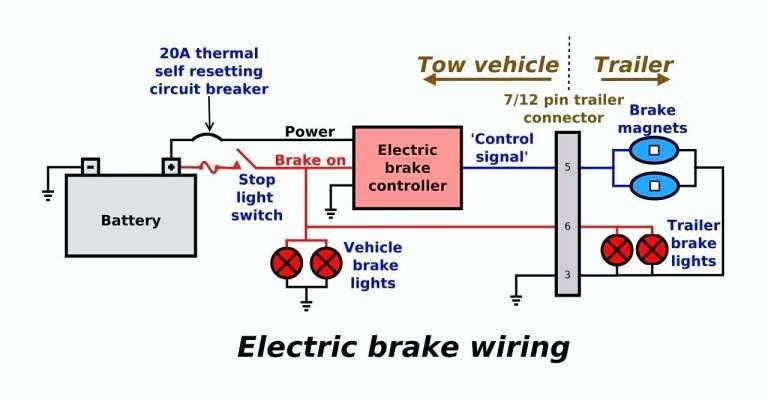 16 ame electric brake controller wiring diagram  trailer