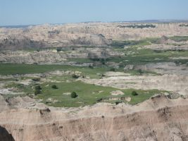 Scenic look at the Badlands by HaleyGottardo