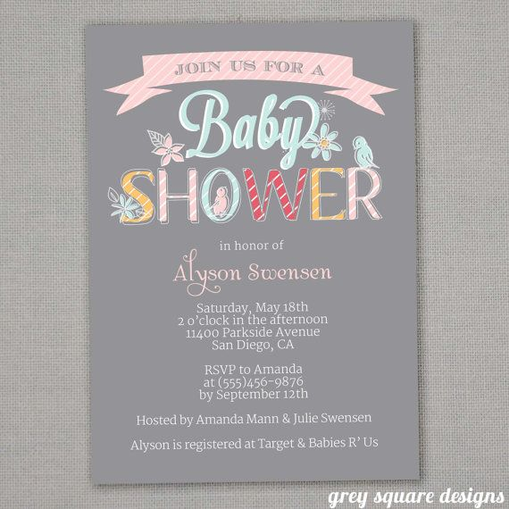 baby shower invitation girl great idea to have this printable