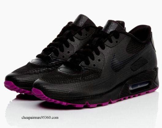 Nike Pink Max Sneakers Hyperfuse Womens Black 90 Air 57 d1nwqS
