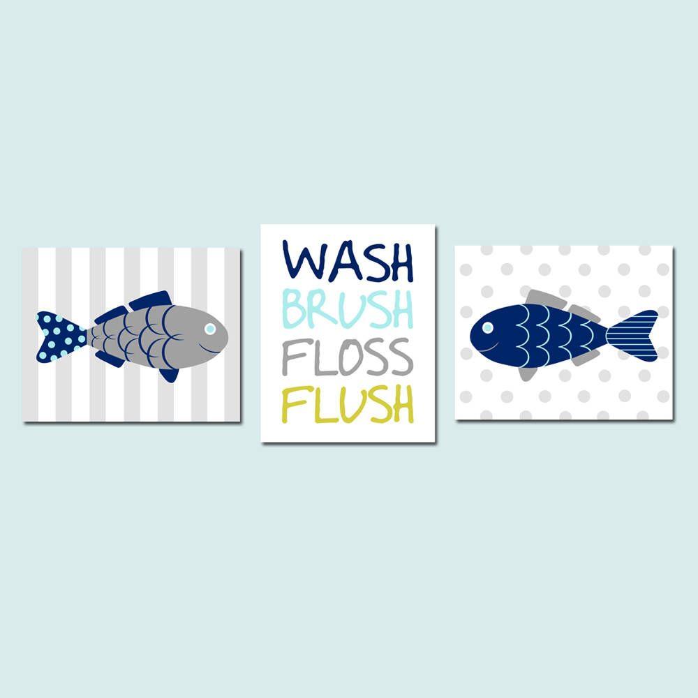 Fish Bathroom Decor Fish Bathroom Art Fish Wall Art Kids Etsy In 2020 Fishing Bathroom Decor Kid Bathroom Decor Fish Bathroom