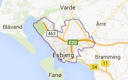 Map of esbjerg denmark | Esbjerg V ,Denmark | Pinterest | Denmark