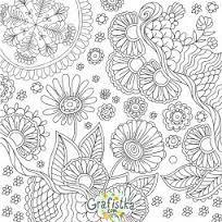 Kolorowanka Dla Doroslych 6 Kolorowanka Do Druku Malowanka Printable Flower Coloring Pages Detailed Coloring Pages Flower Coloring Pages