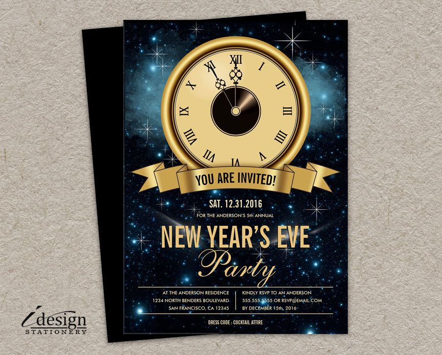 New Year S Eve Party Invitation Printable Nye Countdown