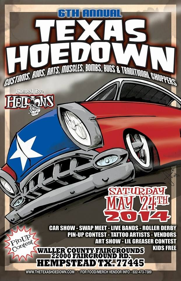 TEXAS HOEDOWN Show May Th Hempstead TX Catch The MAD GEAR Booth - Texas metal car show