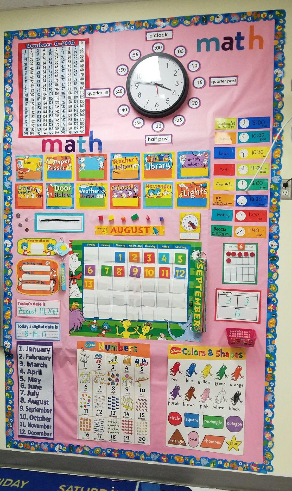 Dr Seuss Calendar Math First Grade