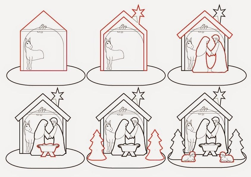 Elaine S Sweet Life Gingerbread Nativity Tutorial Christmas Cookies Decorated Christmas Gingerbread House Nativity