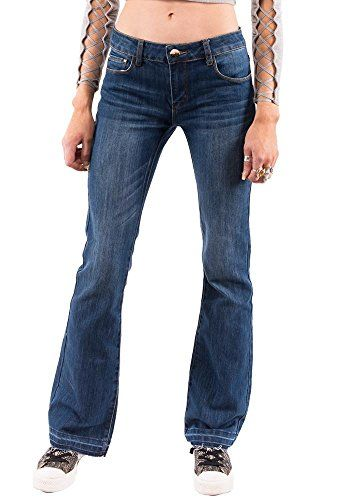 c86d18c8bcc Low Rise Faded Bootcut Jeans With Frayed Leg Ends - Blue   Styles ...