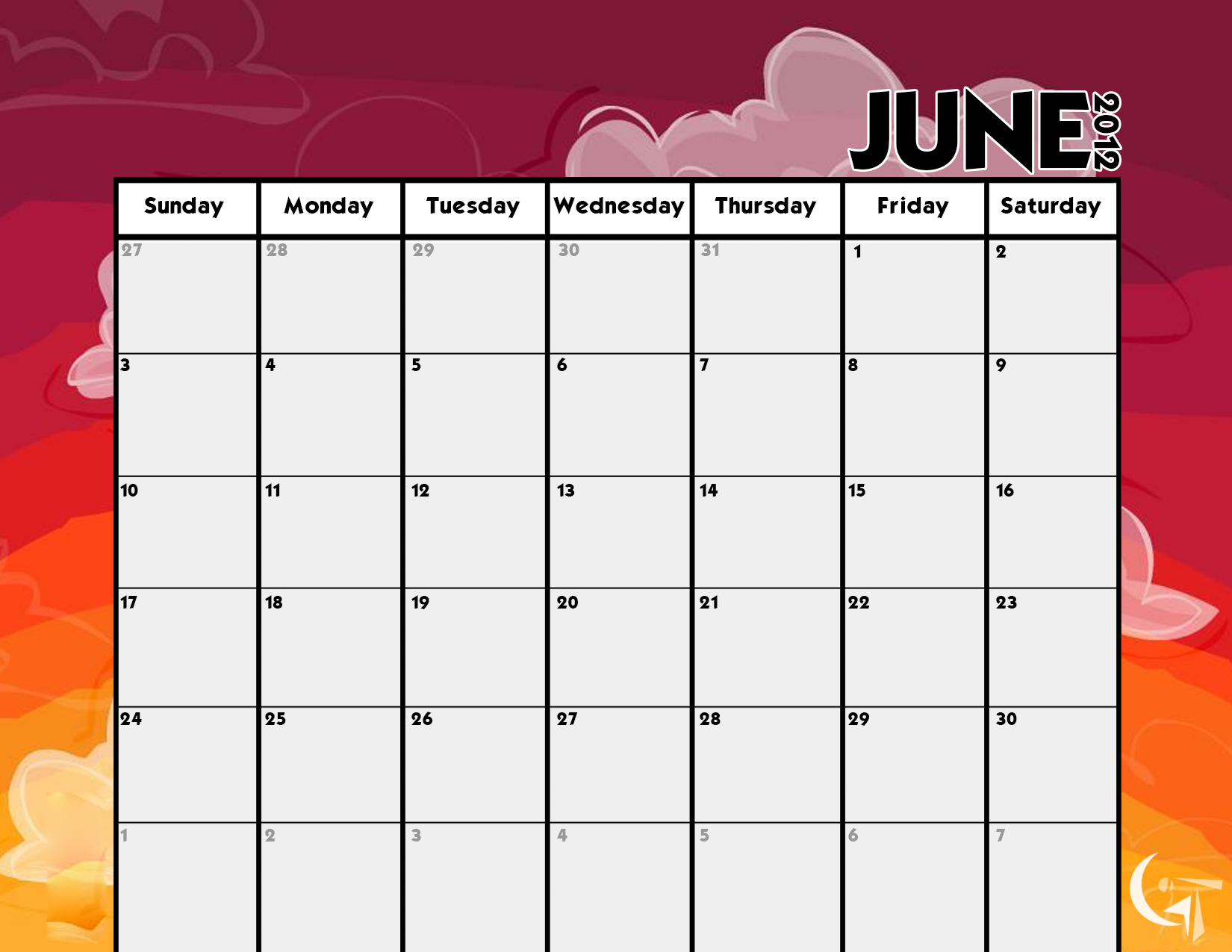 Calendar Template by GENAYNAY.deviantart.com on @DeviantArt | ⊰ฺ ...
