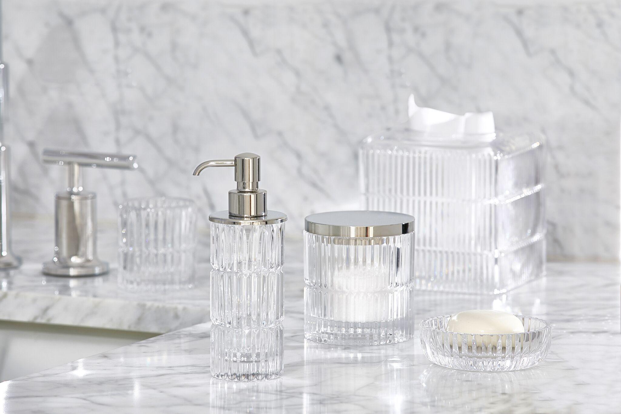 Prisma Clear Crystal Bath Elegant Bath Bath Accessories