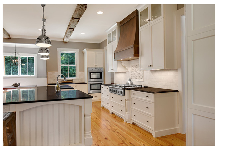 White + Tropic Brown Granite Kitchen design, Beautiful
