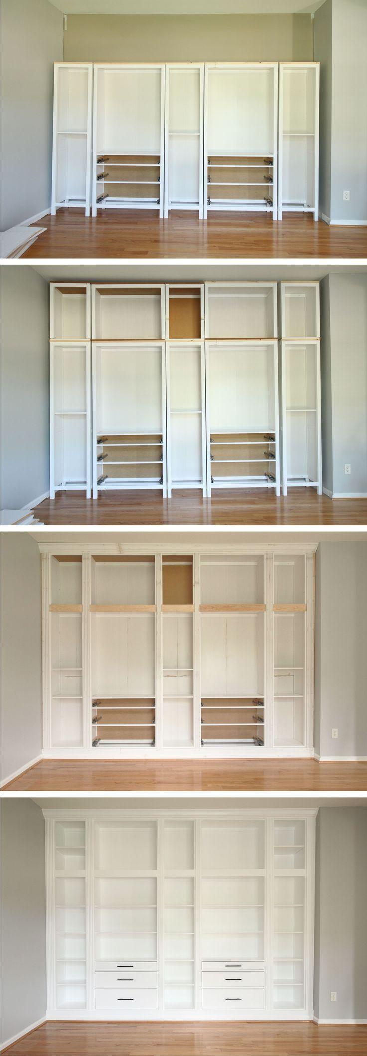 BuiltIn IKEA Billy Bookcase Hack Ikea billy bookcase