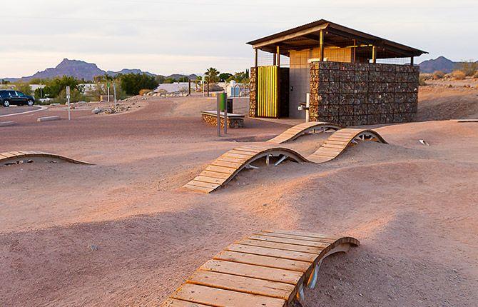 Mesa arizona desert trails bike park norris design for Mesa landscape architects