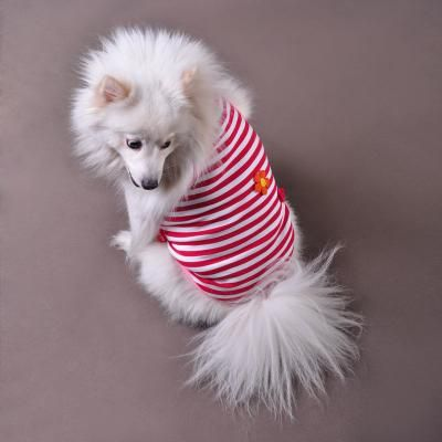 Petwin Red Strips Flower Dog Tank Top