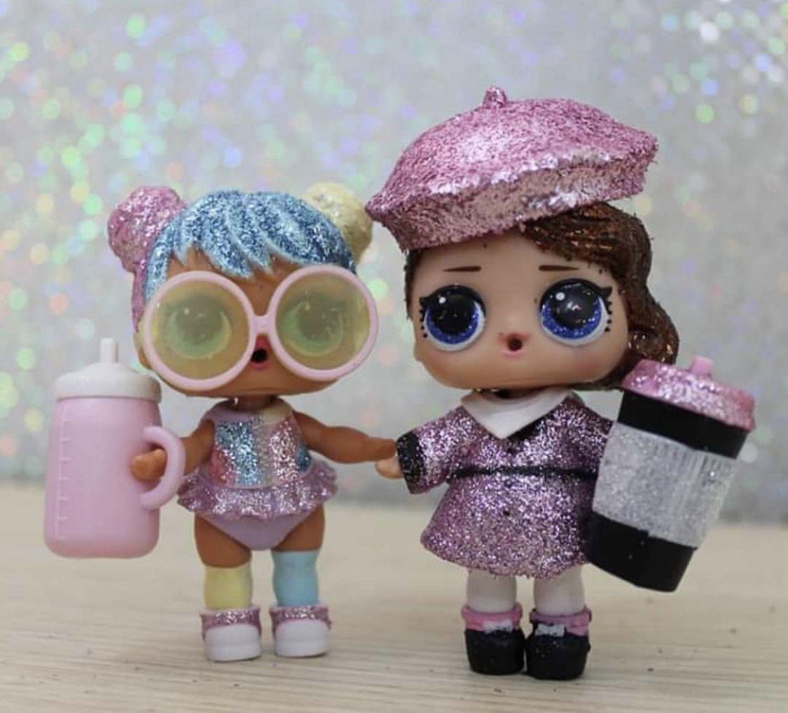LOL Surprise doll accessories pink glitter beret hat