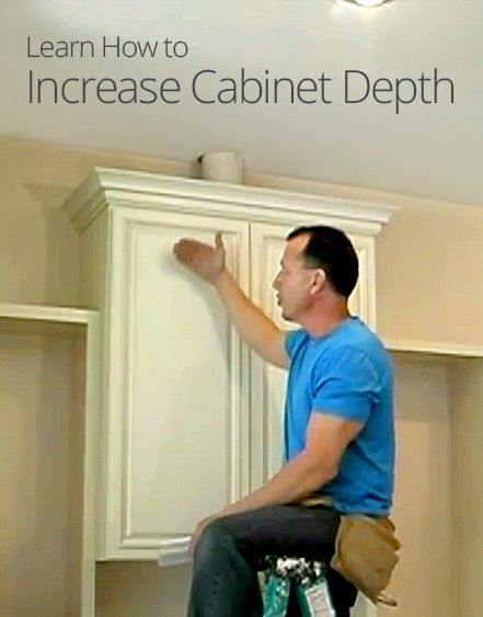how to increase cabinet depth share home diy ideas