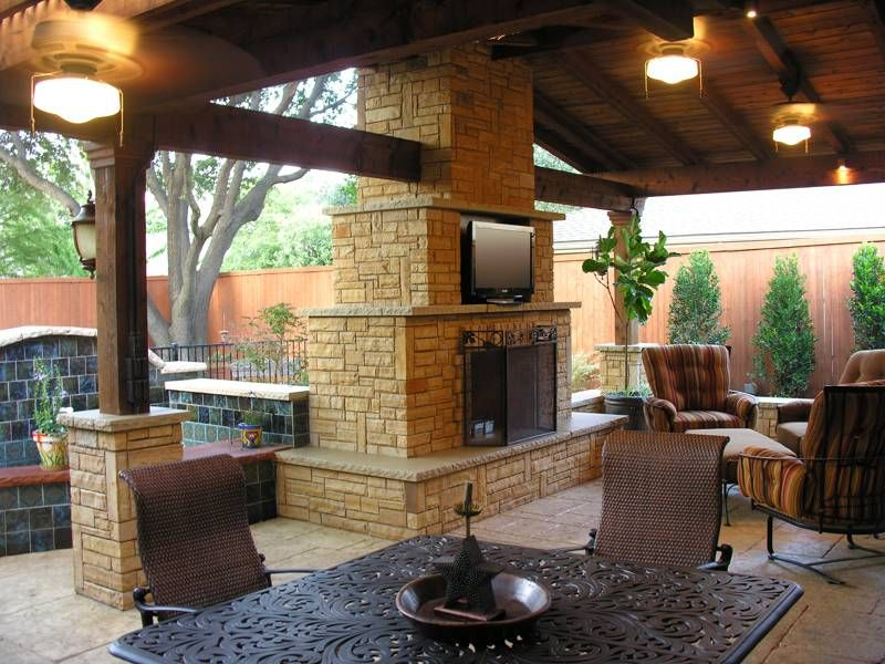 patio plans - Patio Fireplace Designs