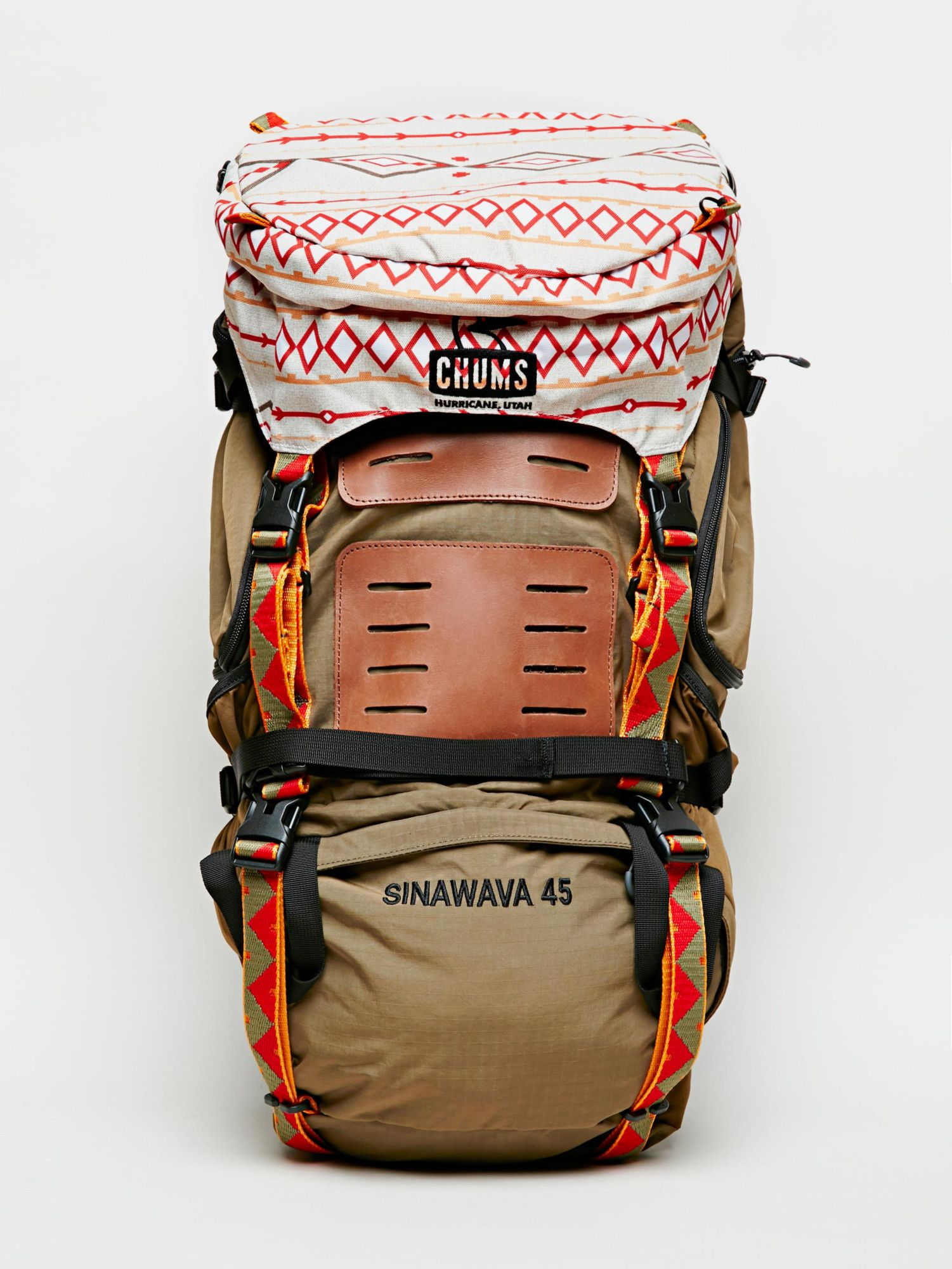 Chums Brown Sinawava 45 Backpack Without Walls Hiking Pack Hiking Backpack Camping Backpack