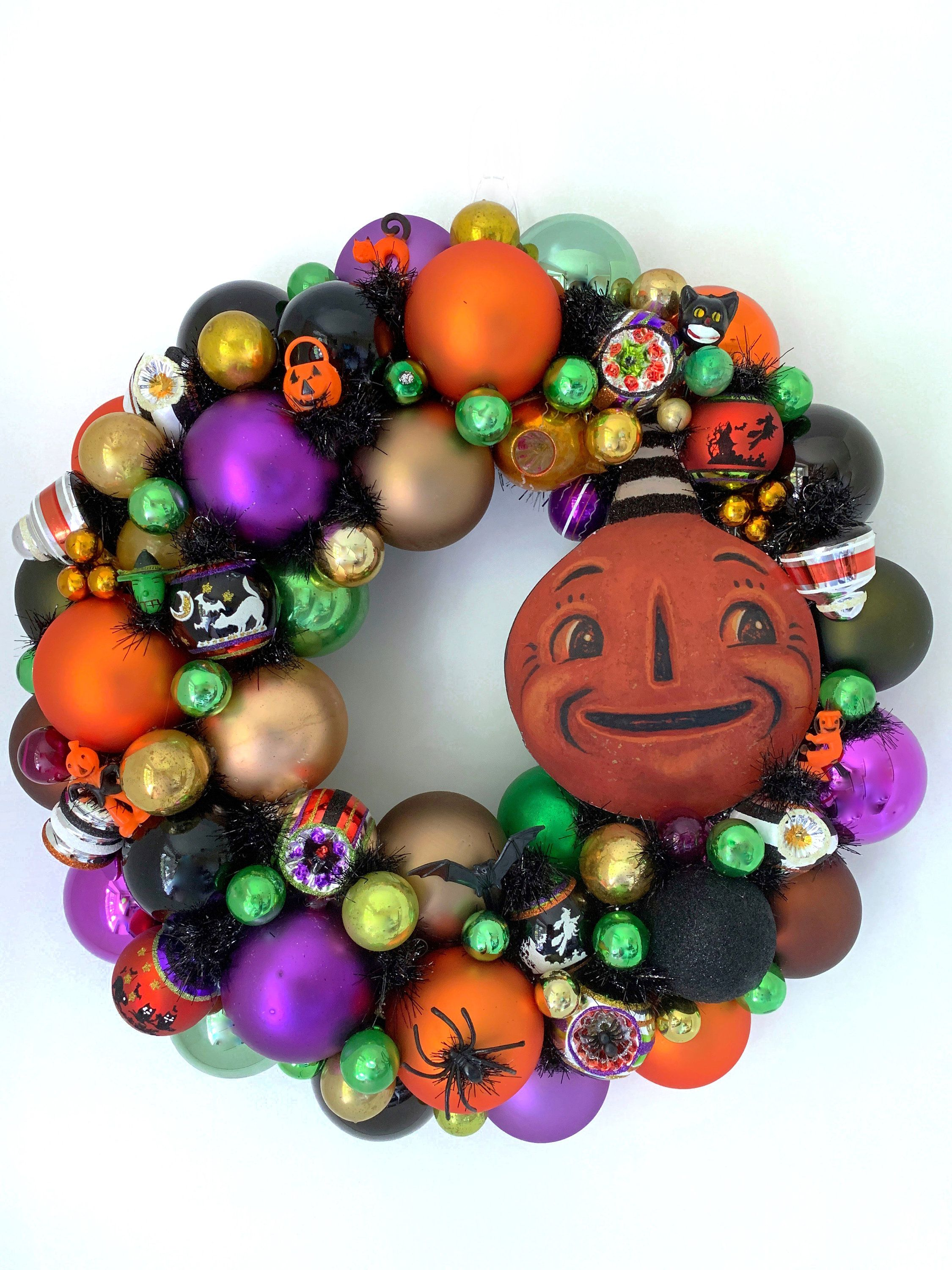 Your Place To Buy And Sell All Things Handmade Vintage Ornament Wreath Halloween Wreath Halloween Ornaments