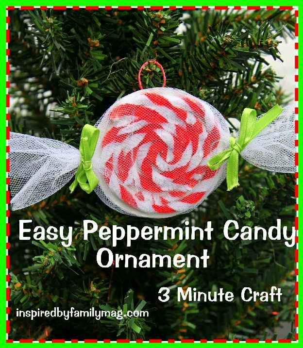 Classroom Christmas Craft Ideas Part - 45: Christmas Ornament Craft: Easy Peppermint Candy- {using Recycled Items} My  Husband Used