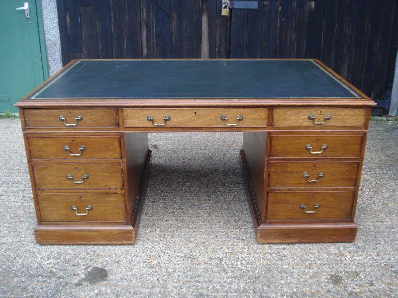 Antique Partners Desk Modern Desk Ideas