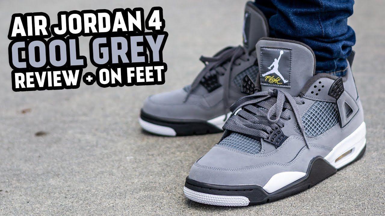 Air jordan 4 cool grey on feet review air jordans