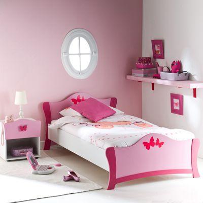 lit papillons rose 90 x 190 cm 3 suisses d coration pinterest chambre papillon rose et rose. Black Bedroom Furniture Sets. Home Design Ideas