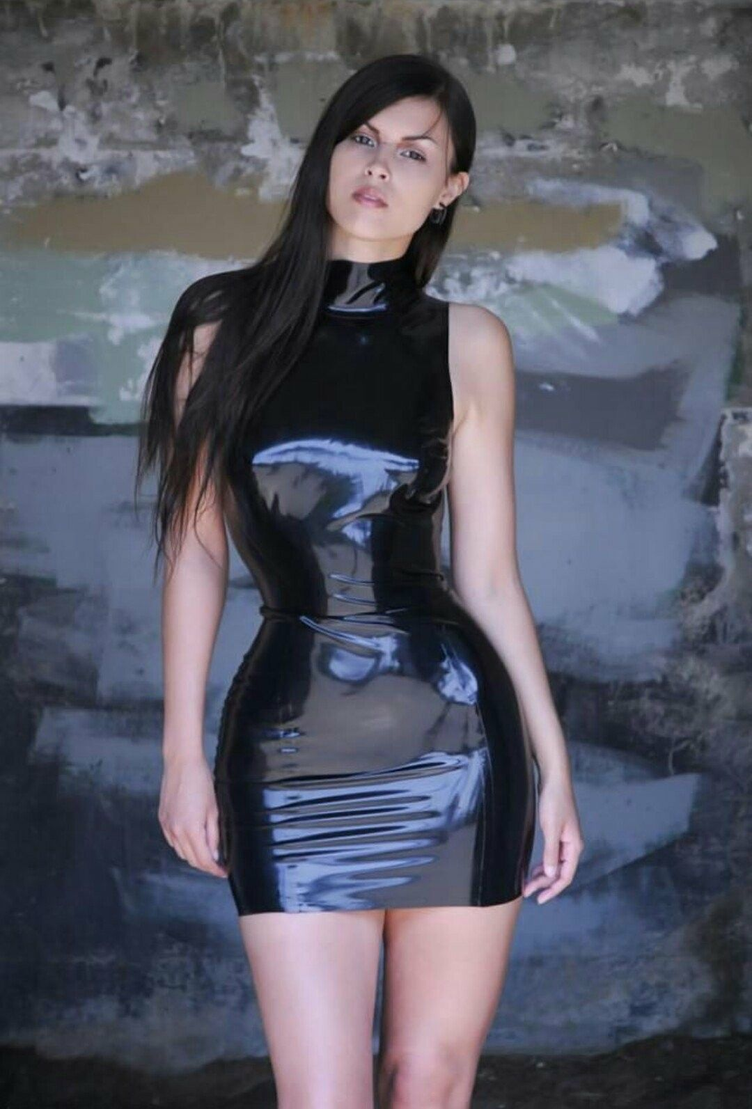 Girl in sexy latex