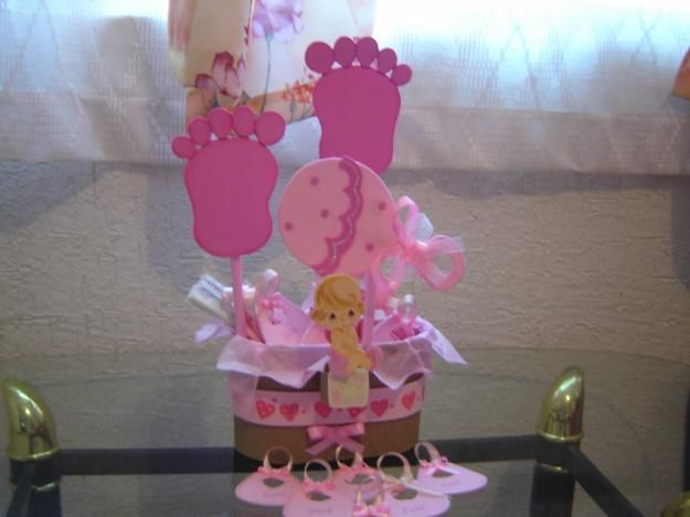 Ideas de centros de mesa para baby shower ni a imagui - Ideas para baby shower nina ...
