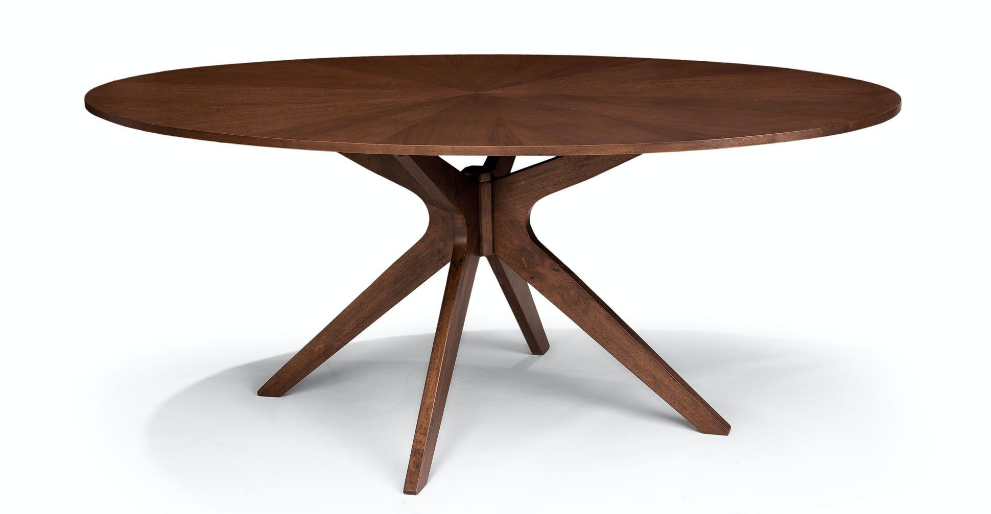 Conan Round Dining Table Oval Table Dining Midcentury Modern Dining Table Oval Kitchen Table [ 1007 x 1940 Pixel ]