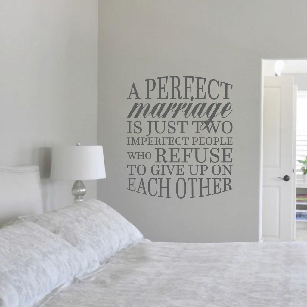 A Perfect Marriage Quote Wall Decal 31 Quot Wide X 36 Quot Dark