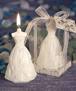 Vela en forma de vestido de novia