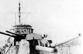 8 In Forward Turrets Of Heavy Cruiser Hms Exeter After Serious