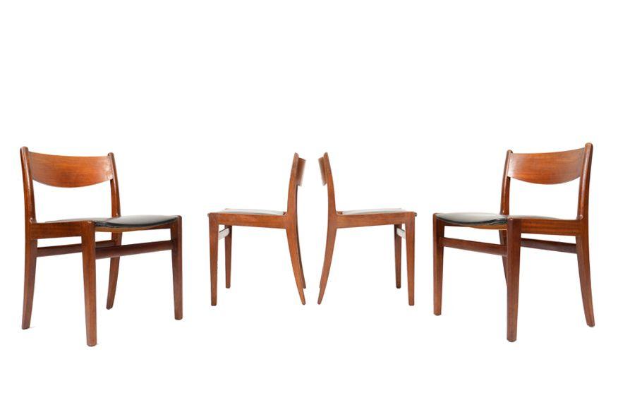 Set Of Four English Modern Teak Dining Chairs By Younger Dining Chairs Teak Dining Chairs Chair