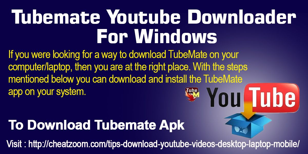 download youtube app for my laptop