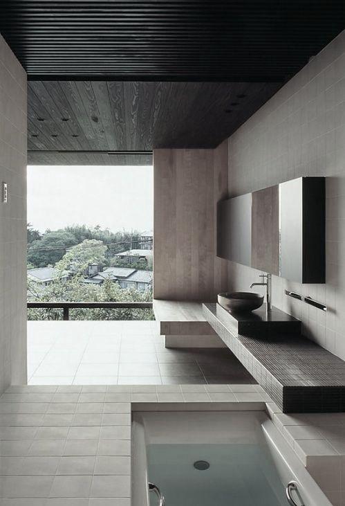 Pin de axel nava en muebles madera acero piedra for Banos de madera y piedra