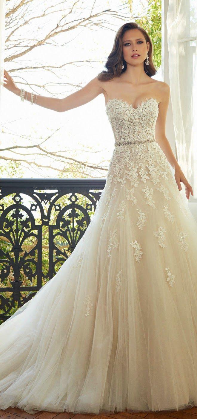 Wedding dresses for fuller figures with sleeves  Elizabeth Smith elizabethma on Pinterest
