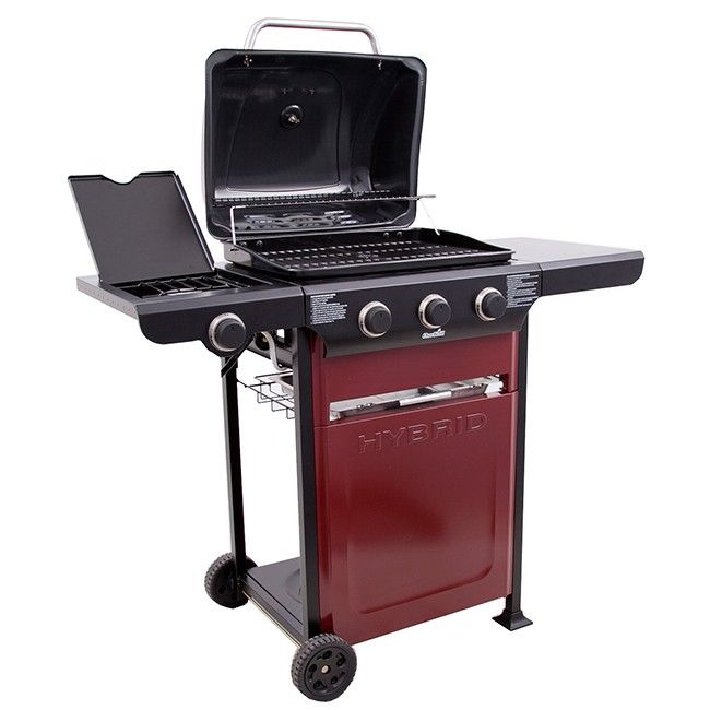charbroil hybrid charbroil propane u0026 charcoal hybrid grill with sideburner