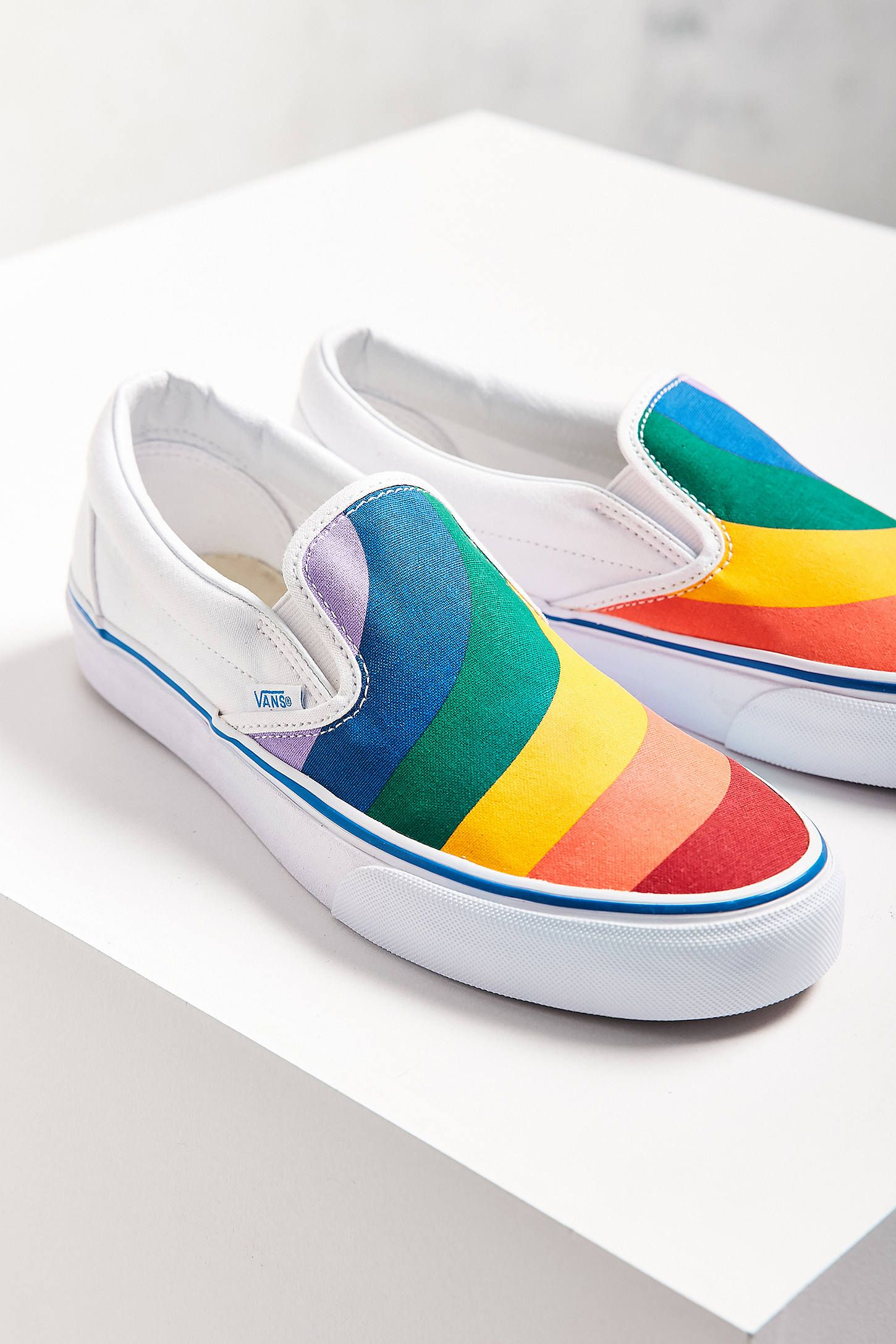 4e18d41d28 Slide View  2  Vans Rainbow Slip-On Sneaker