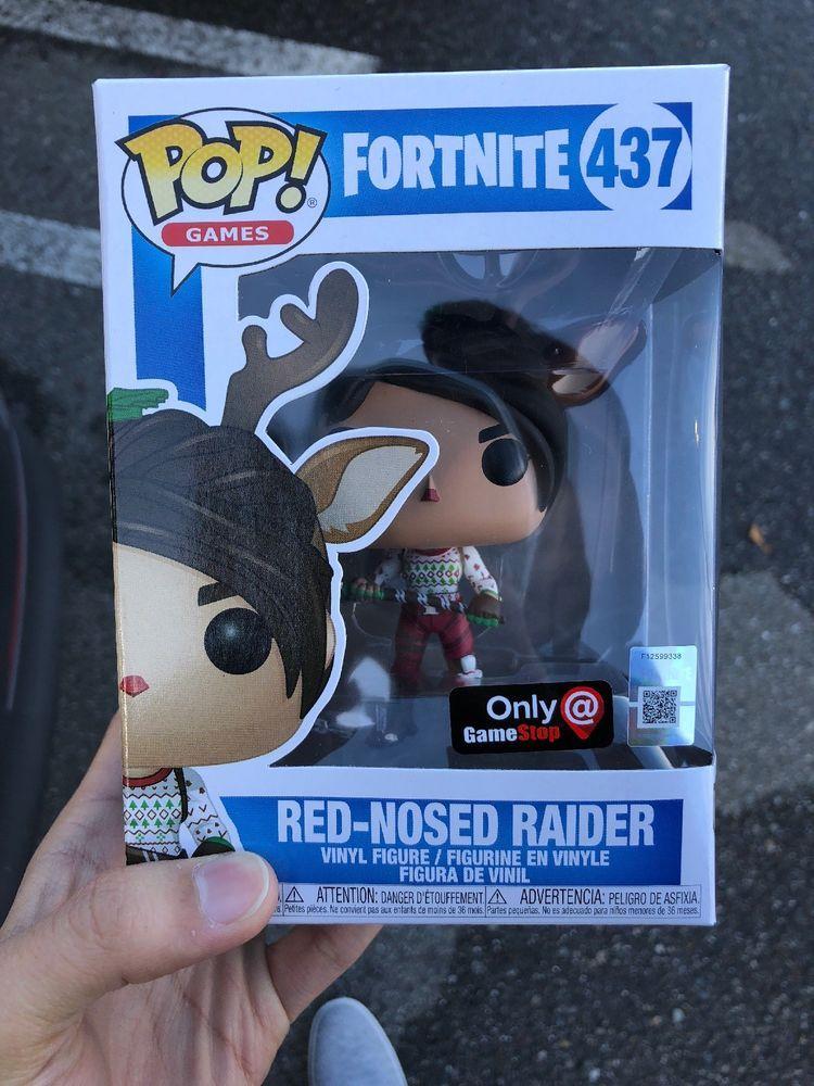 Funko Pop Fortnite 437 Red Nosed Raider Gamestop Exclusive In