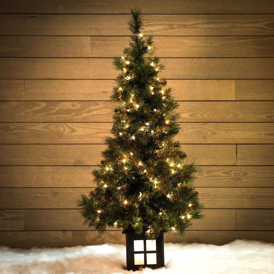 Holiday Living 4 Ft Pre Lit Scott Pine Slim Artificial Christmas