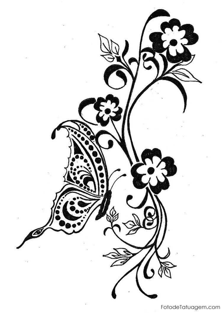 Imagem De Desenhos Para Tatuagem De Borboleta 2 Desenhos