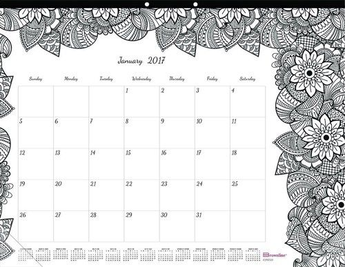 Blank Calendar Desk Pad : The best adult coloring calendars for