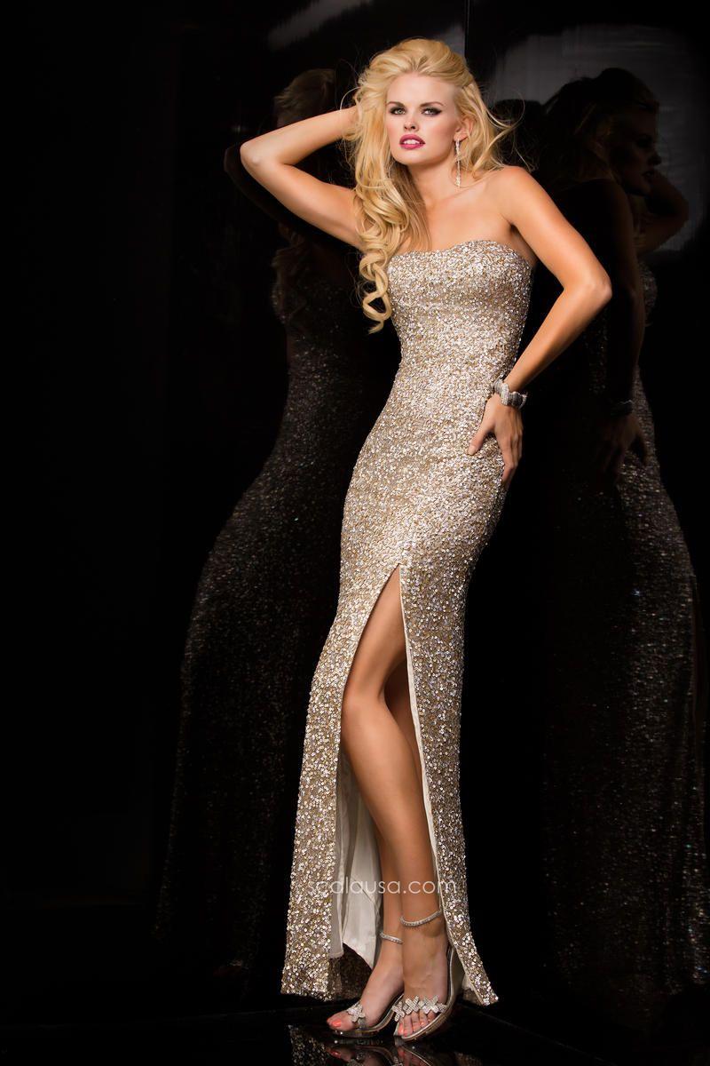 Scala Dress 48407 | Terry Costa Dallas | Strapless dress ...