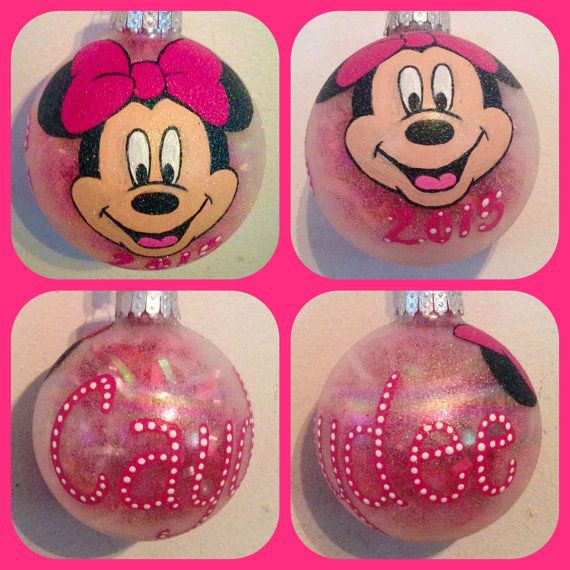 Minnie Mouse Ornament Hand Painted, Minnie Mouse Gifts, Kids Cartoon ...