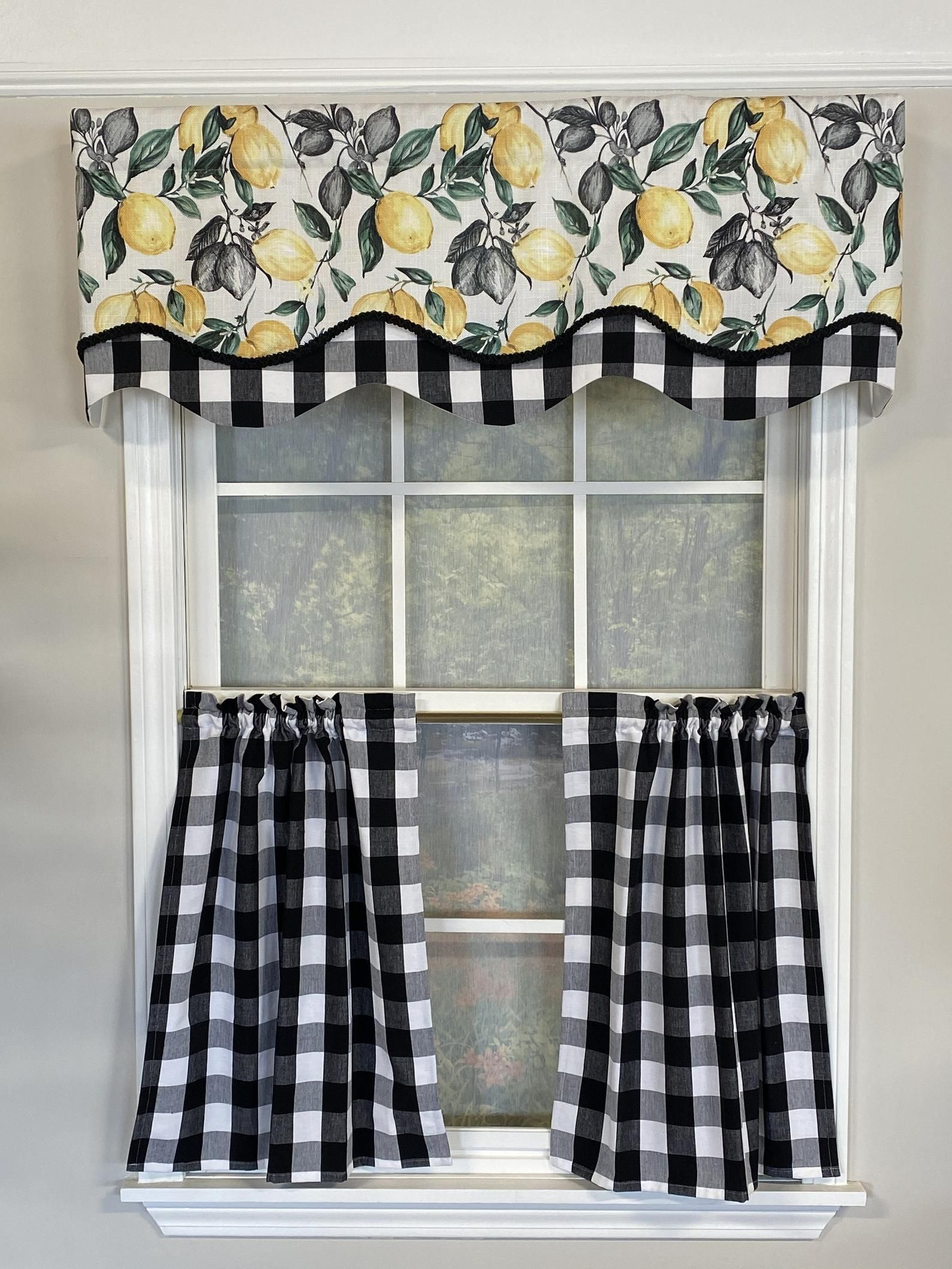 9b3032f4c485fa48a108db95ca8875fc - Better Homes And Gardens Red Check Swag Valance