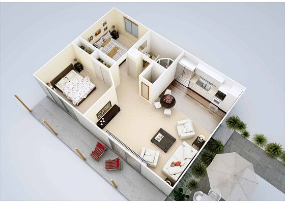50m2 apartment design Google Search Backyard cottage