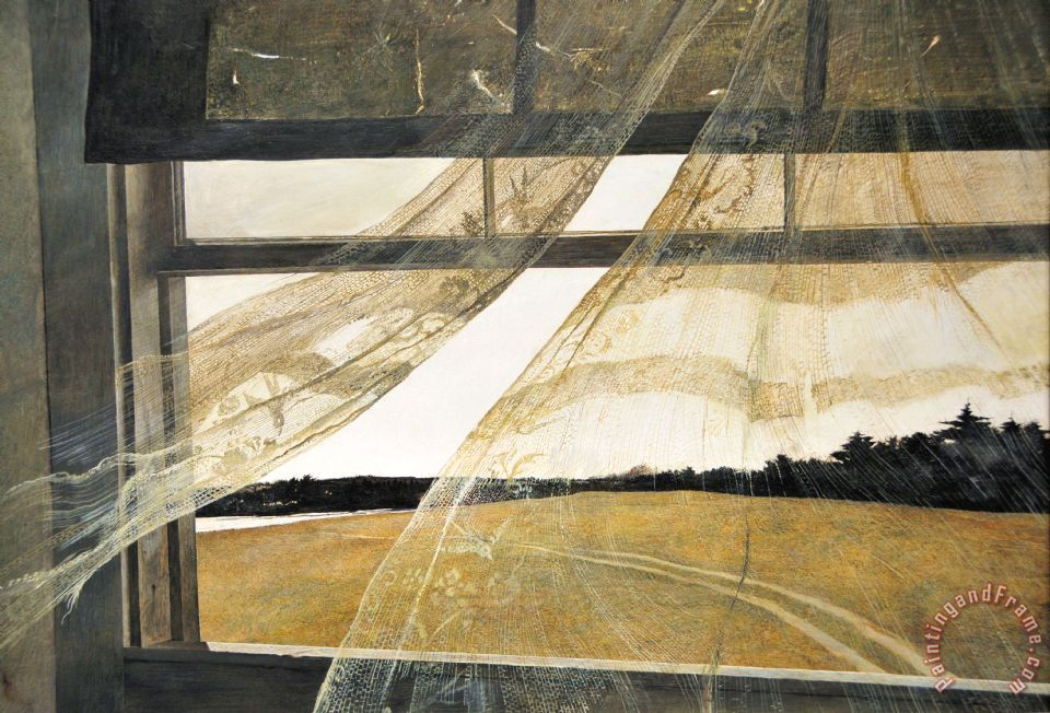 Andrew Wyeth Wind From The Sea 1947 Framed Print For Sale